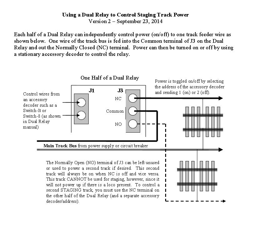 Using a Dual Relay to Control Staging Track Power – Welcome ... on