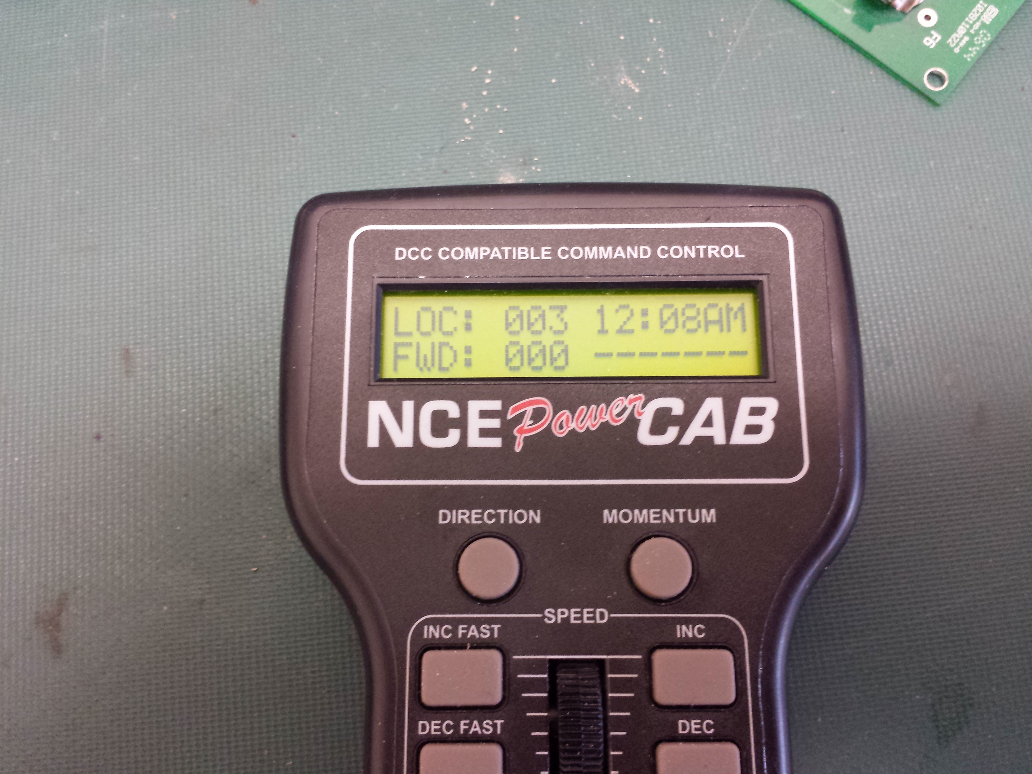 Power Cab Will Not Run A Locomotive Led On Panel Blinking Or Dcc Track Wiring Signal Light Powercab Display
