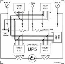 UP5 Booster Wiring Diagram Digitrax on for detection signaling, reversing module, pm42 bdl168, command station, diagram for bdl168 detection, mars light two bulbs, sfx004 decoder, reversing switch, ds-64 input,